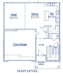 single-family home floor plan of Scotty