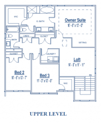 Upper level of Scotty single family floor plan