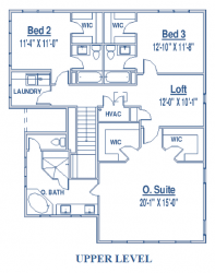 Floor plan of single-family home